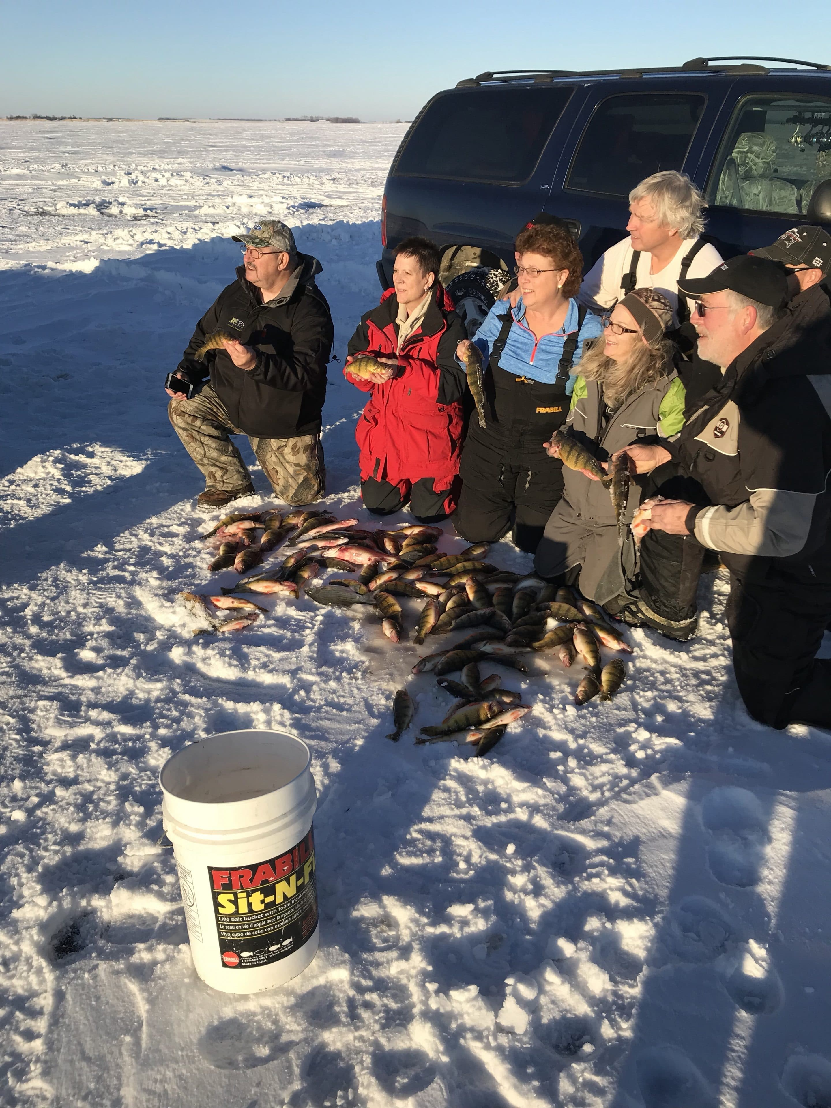 Devils Lake Walleye and Perch report January 8th 2018 - Mike